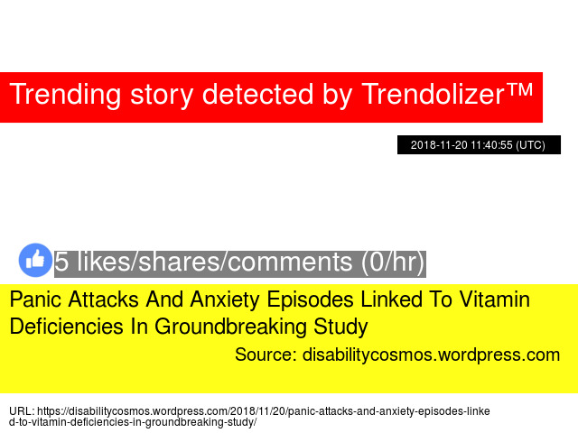 Panic Attacks And Anxiety Episodes Linked To Vitamin