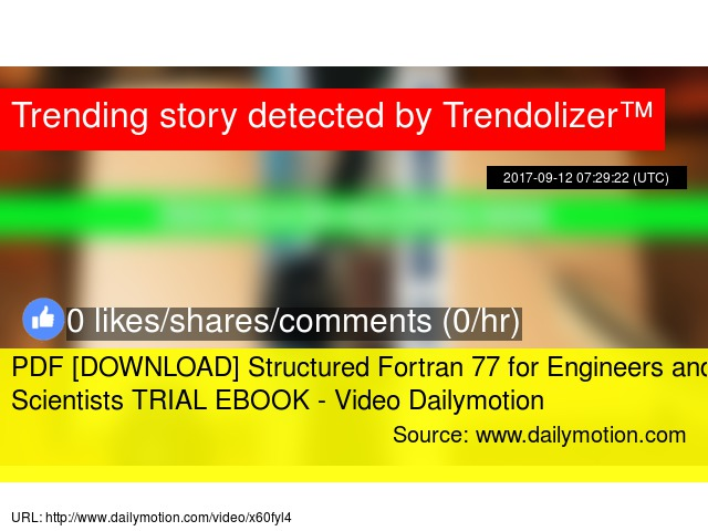 PDF [DOWNLOAD] Structured Fortran 77 for Engineers and Scientists