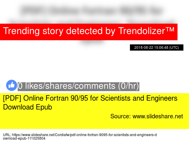 PDF] Online Fortran 90/95 for Scientists and Engineers